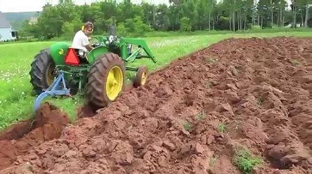 Soil plowing.