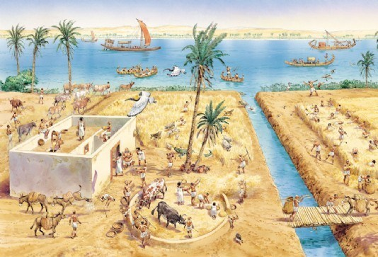 Farming in ancient Egypt.